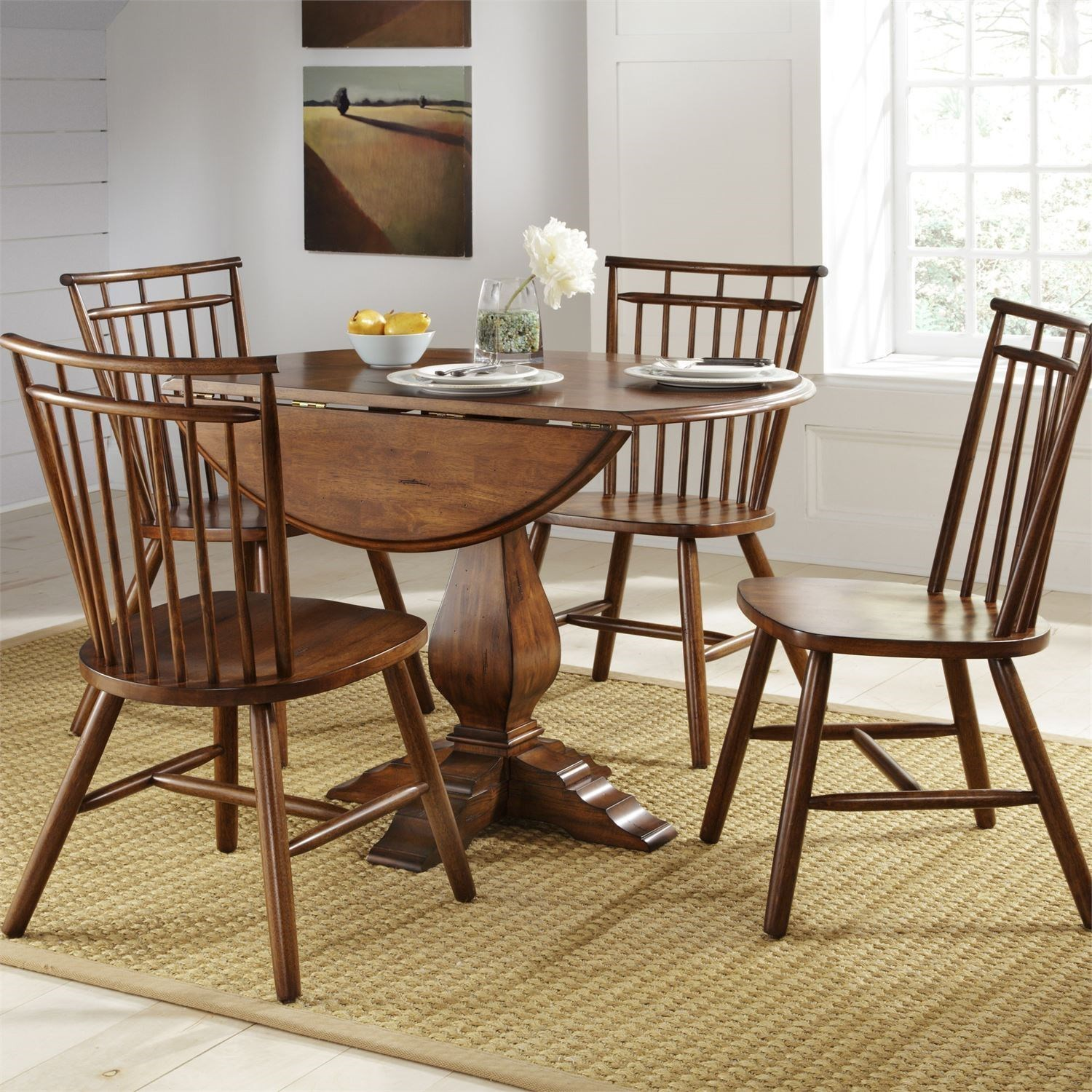 5 Piece Casual Dining Table and Chair Set