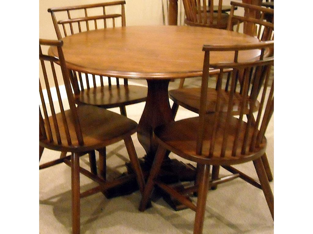 Liberty furniture creations iidrop leaf pedestal table