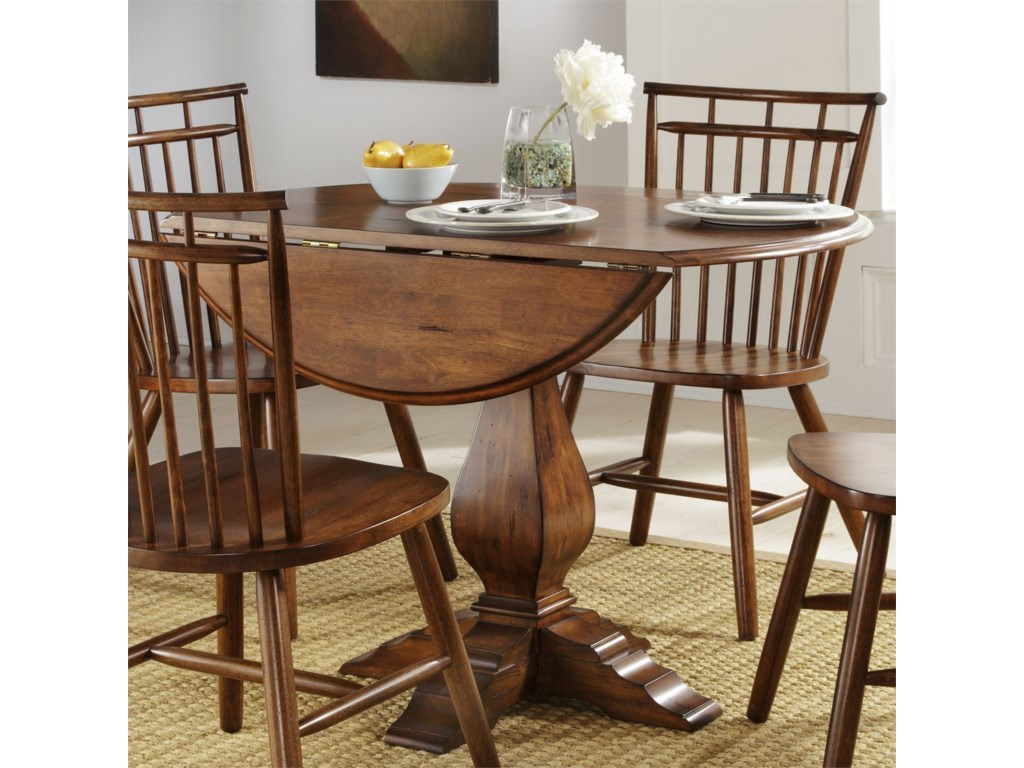 Creations II Drop Leaf Pedestal Table by Liberty Furniture at Suburban  Furniture