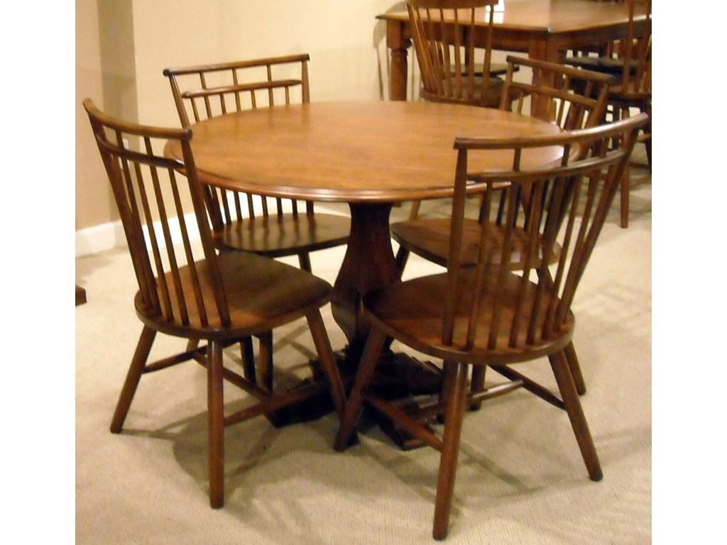Shown with Spindle Back Side Chairs