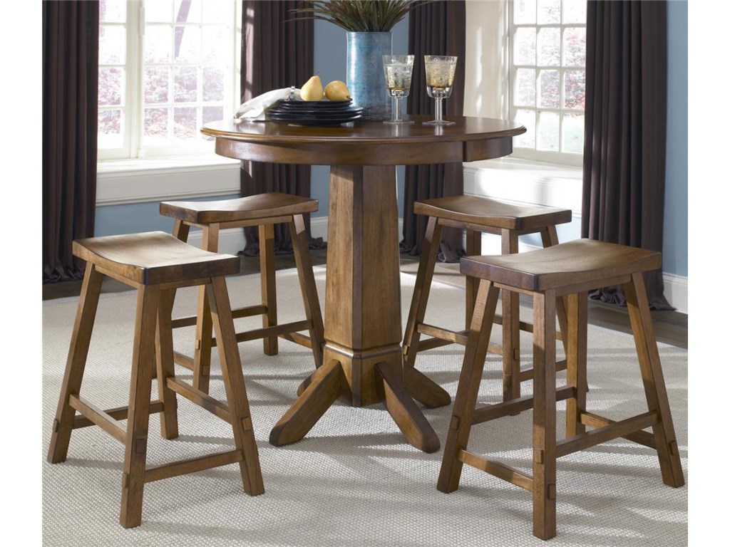 Liberty Furniture Creations II5 Piece Pub Table and Bar Stools