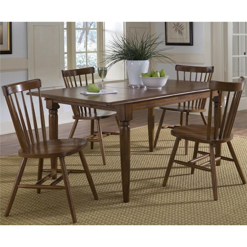 Liberty Furniture Creations II 5 Piece Butterfly Leaf Table & Copenhage Side Chair