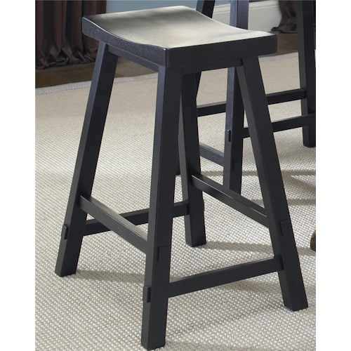 Liberty Furniture Creations II 24 Inch Sawhorse Barstool