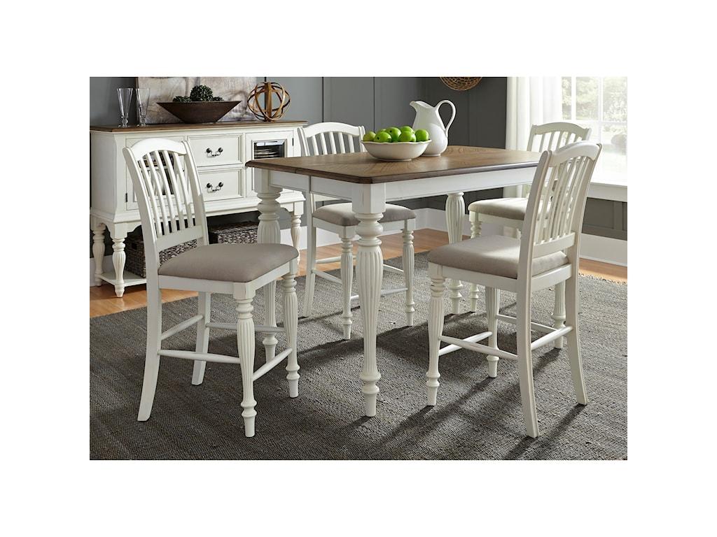 Liberty Furniture Cumberland Creek Dining5 Piece Gathering Table Set