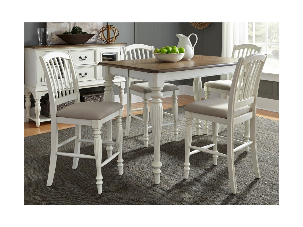 Liberty Furniture Cumberland Creek Dining5 Piece Gathering Table Set