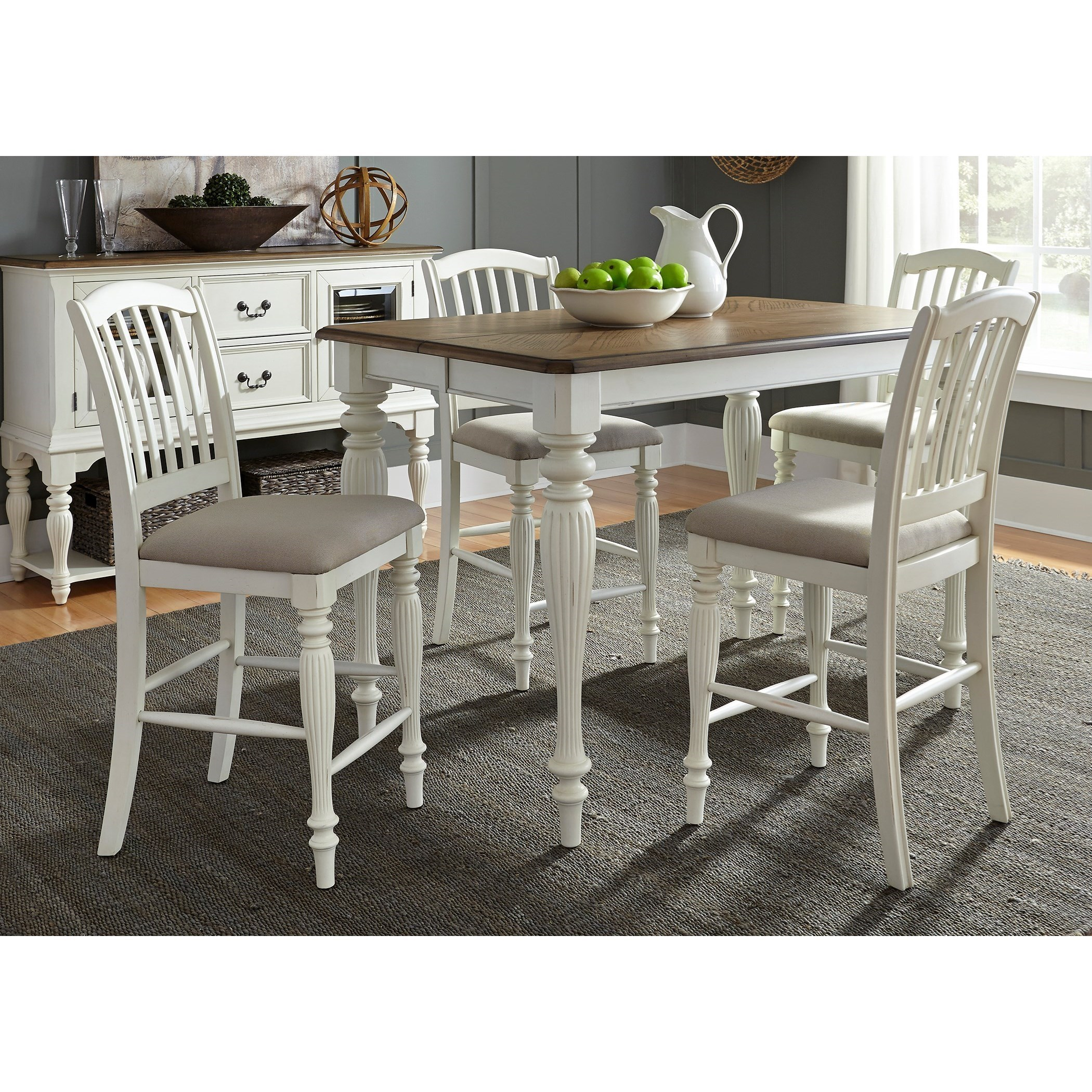 Liberty Furniture Cumberland Creek Dining 5 Piece Gathering Table Set  sc 1 st  Zaku0027s Furniture & Liberty Furniture Cumberland Creek Dining 5 Piece Gathering Table ...