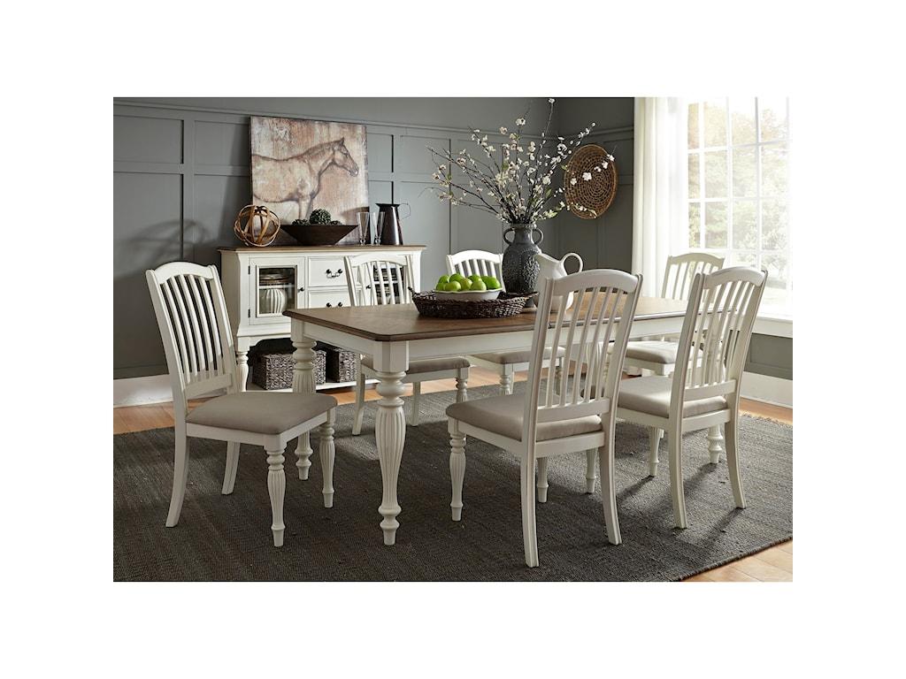 Liberty Furniture Cumberland Creek Dining7 Piece Rectangular Table Set