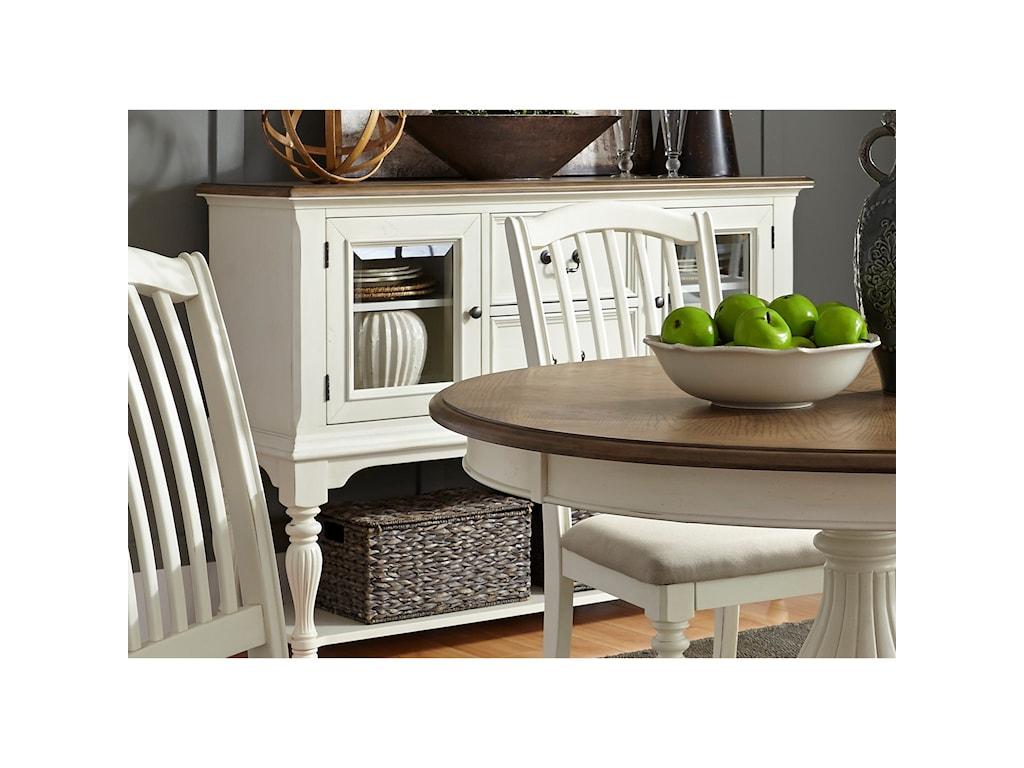 Liberty Furniture Cumberland Creek DiningTwo Drawer Server
