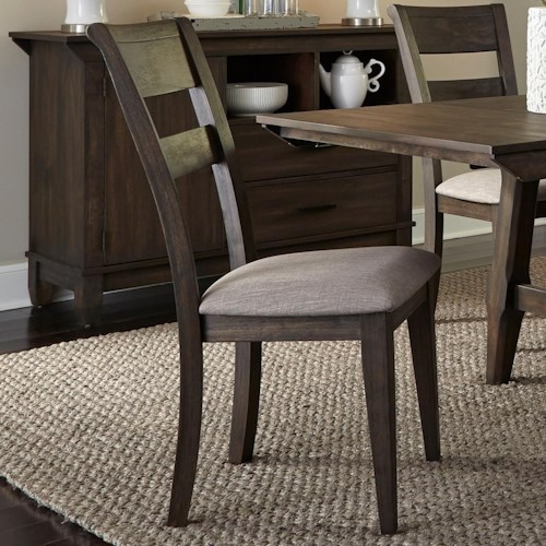 Liberty Furniture Double Bridge Contemporary Splat Back Side Chair