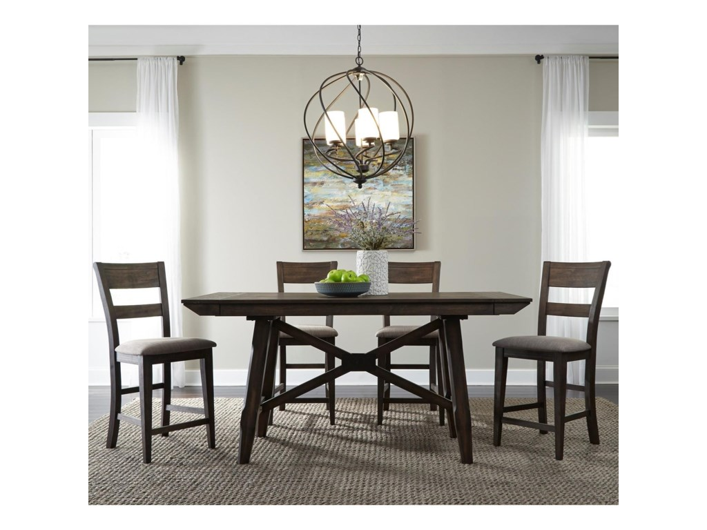 Liberty Furniture Double Bridge5 Piece Gathering Table Set