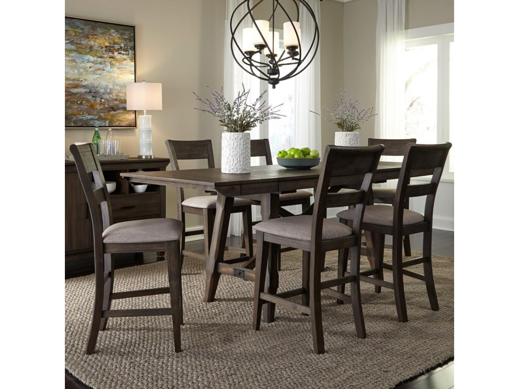 Liberty Furniture Double Bridge7 Piece Gathering Table Set