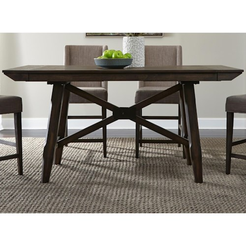 Liberty Furniture Double Bridge Contemporary Gathering Table with Two 12