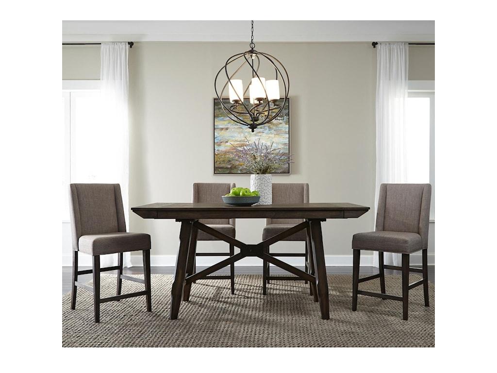 Liberty Furniture Double Bridge5 Piece Gathering Table Set