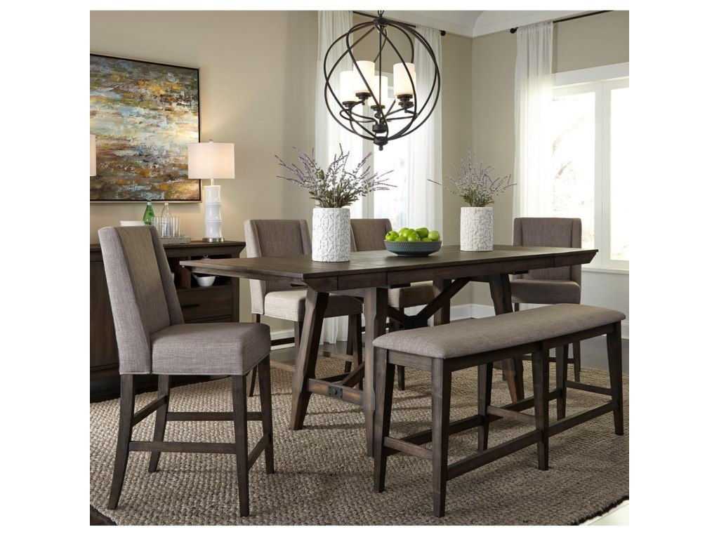 Liberty Furniture Double Bridge6 Piece Gathering Table Set