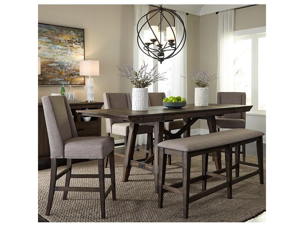 Liberty Furniture Double Bridge6 Piece Gathering Table Set