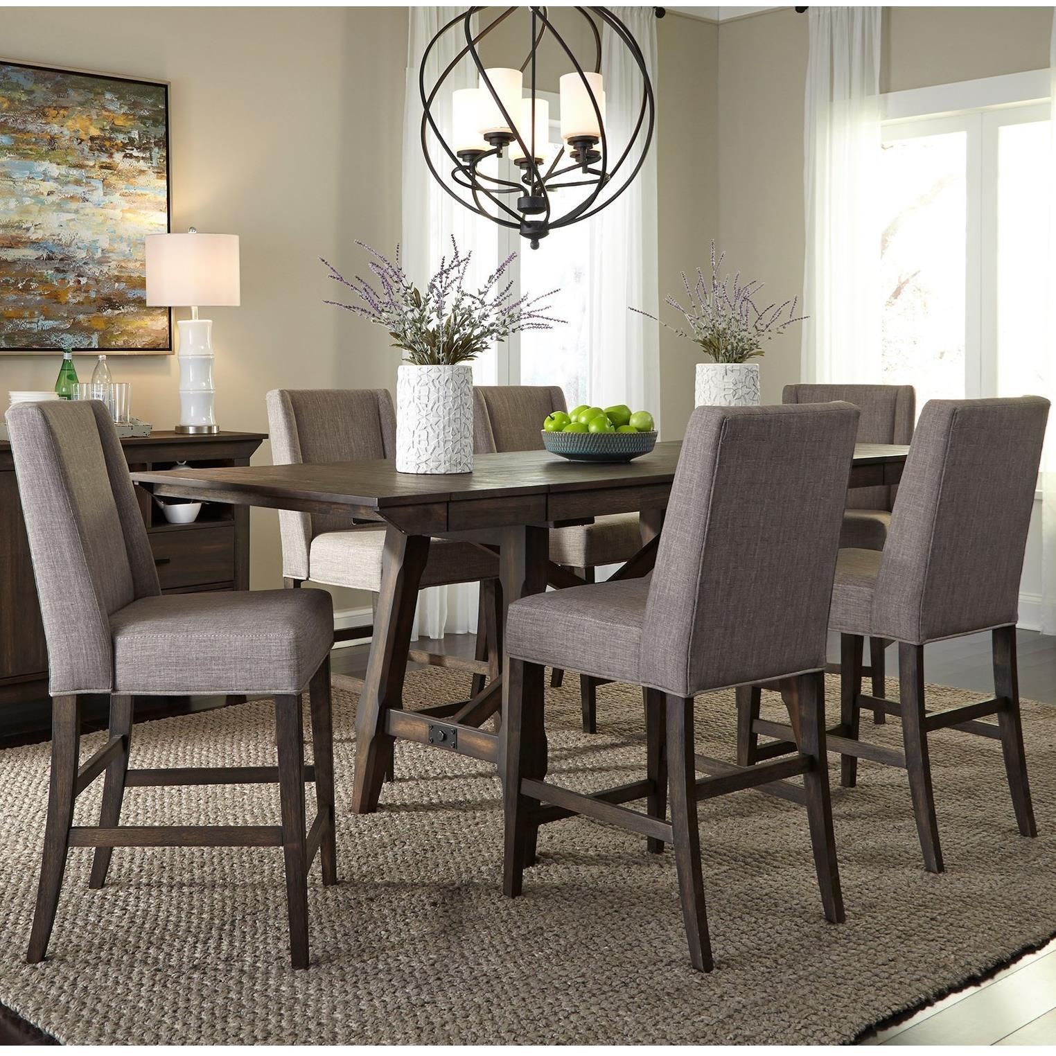 Liberty Furniture Double Bridge 7 Piece Gathering Table Set