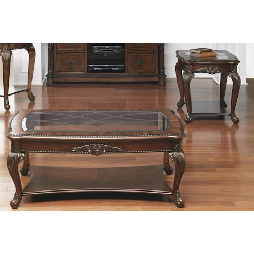 Liberty Furniture Eden Park 3 Piece Traditional End Table and Cocktail Table Set