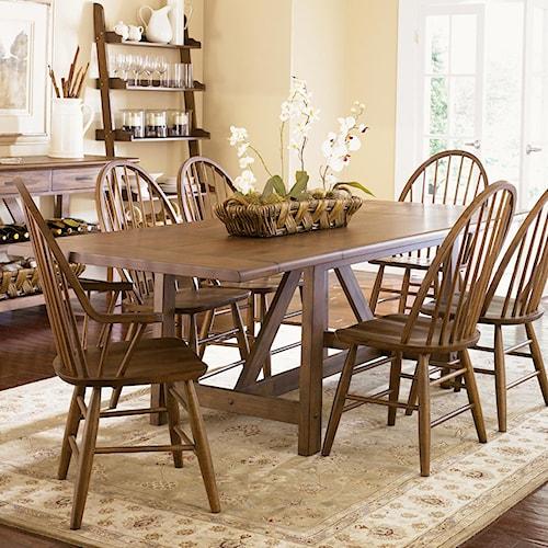 Ashley Furniture Horseheads Ny: Liberty Furniture Farmhouse Trestle Table