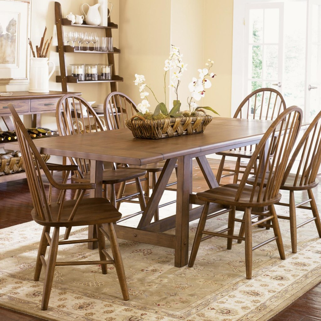 Liberty furniture farmhouse trestle table