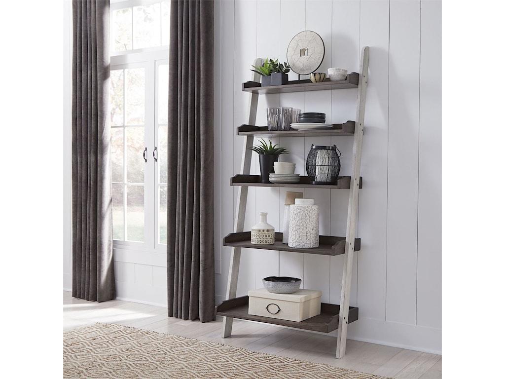 Liberty Furniture FarmhouseLeaning Bookcase