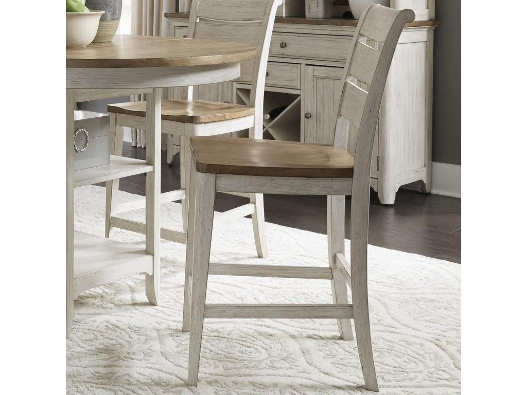 Liberty Furniture Farmhouse ReimaginedLadder Back Counter Chair