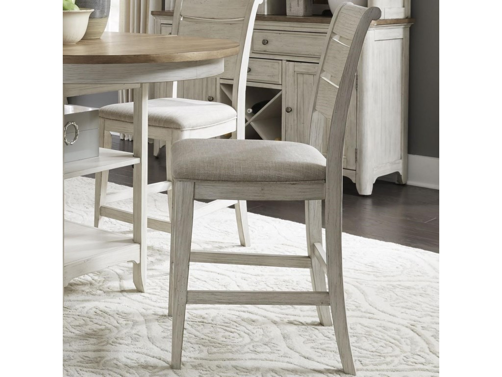 Liberty Furniture FarmingtonLadder Back Upholstered Counter Chair