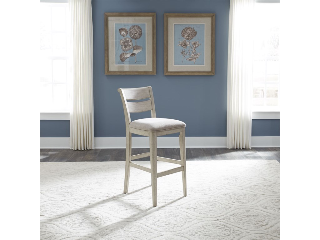 Liberty Furniture Farmhouse ReimaginedLadder Back Upholstered Bar Stool