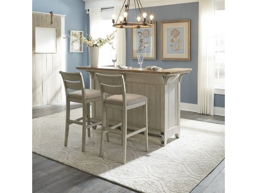 Liberty Furniture Farmhouse ReimaginedBar with Marble Top