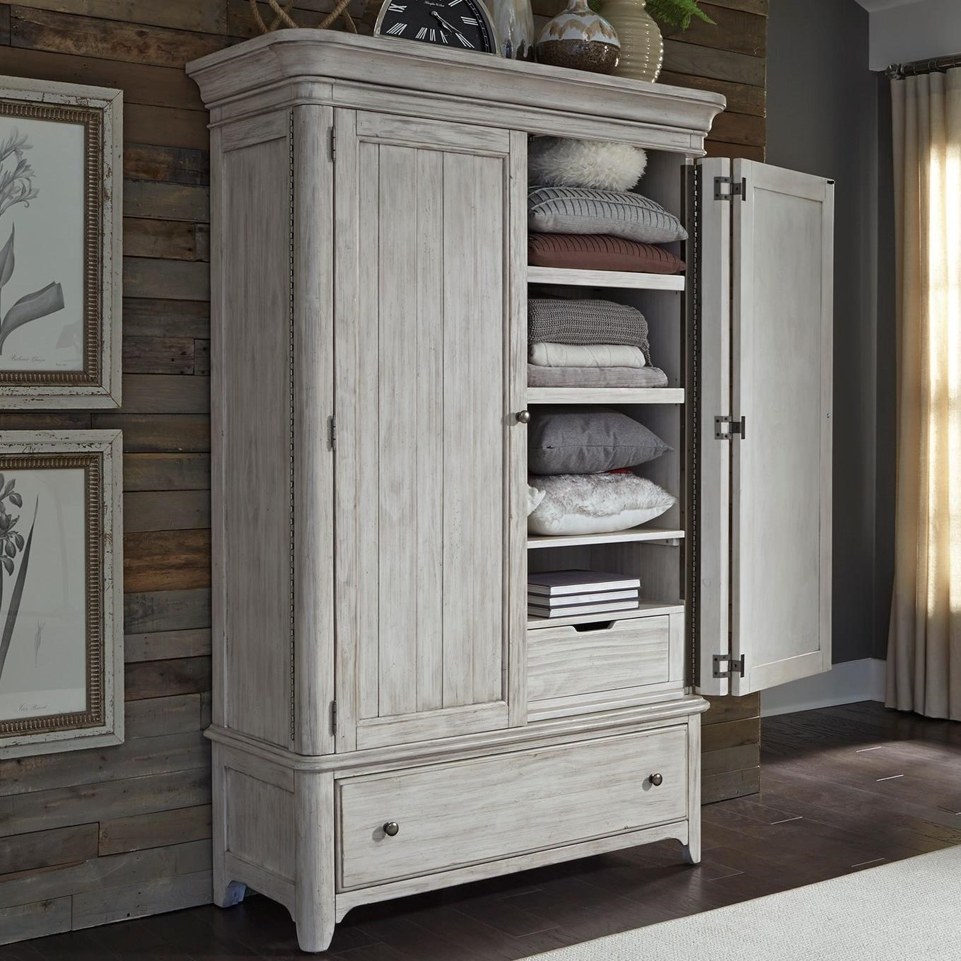 Liberty Furniture Farmhouse Reimagined Relaxed Vintage Armoire With Fully  Stained Interior Drawers