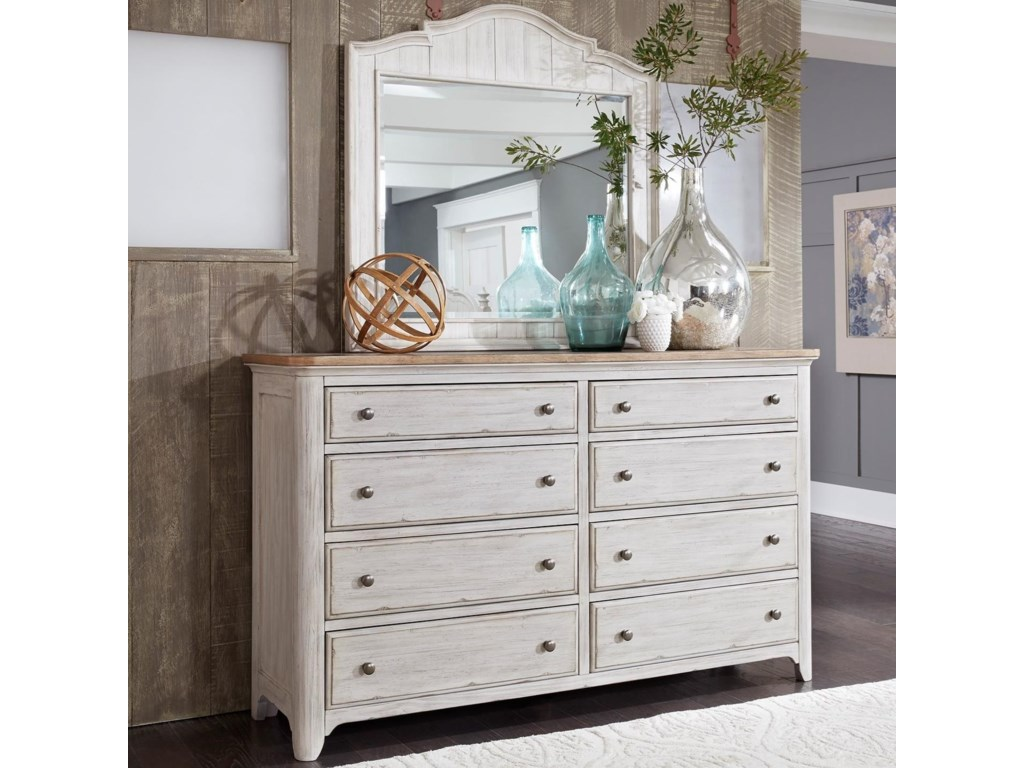 Liberty Furniture Farmhouse ReimaginedDresser & Mirror