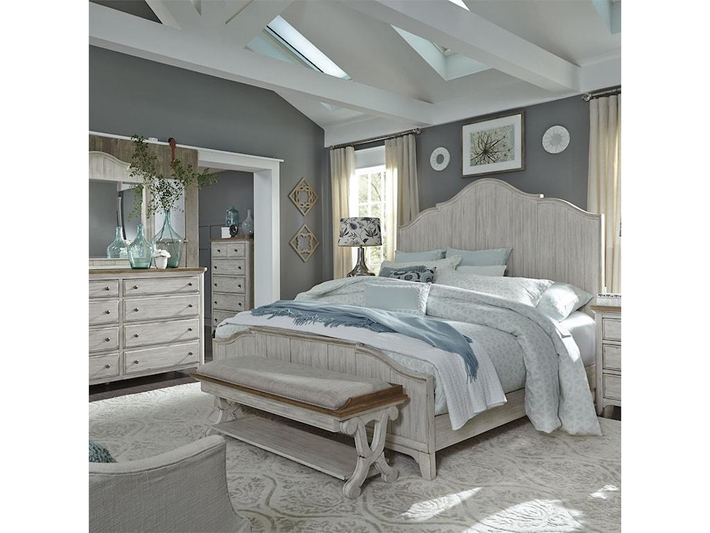 Liberty Furniture FarmingtonQueen Panel Bed