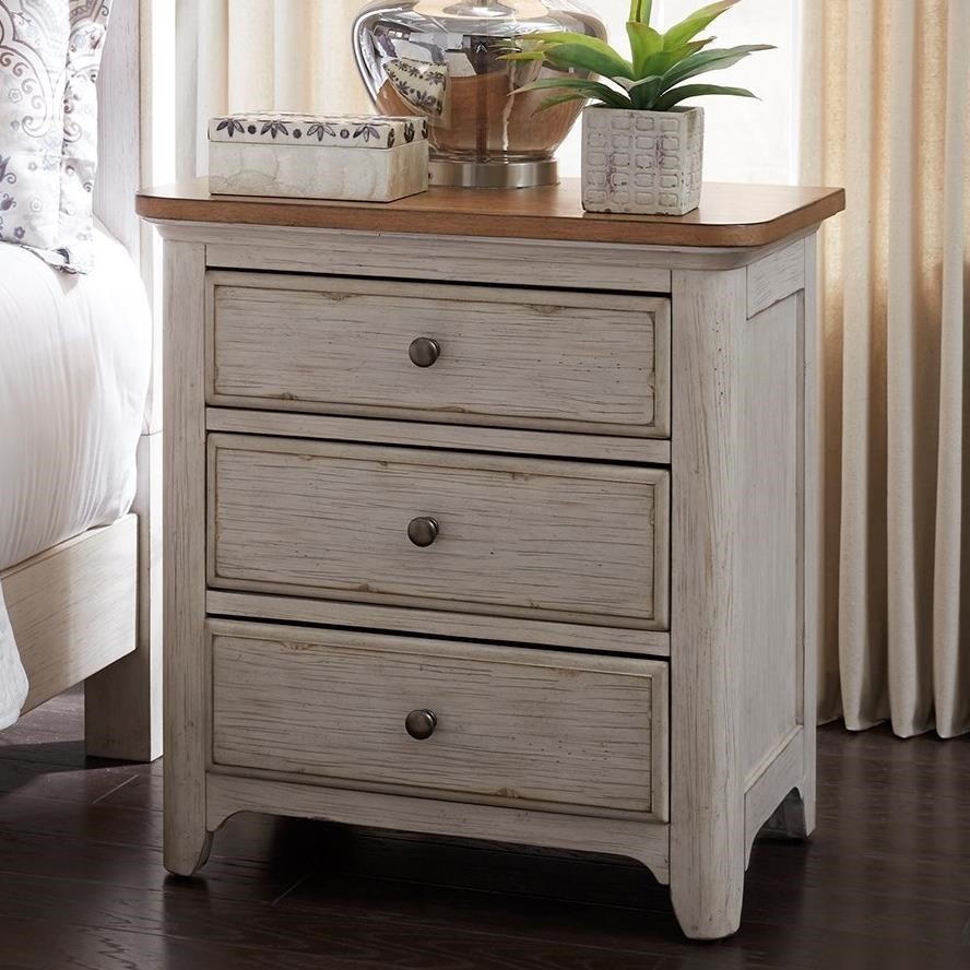 Superieur Liberty Furniture Farmhouse Reimagined Relaxed Vintage 3 Drawer Night Stand  With Charging Station
