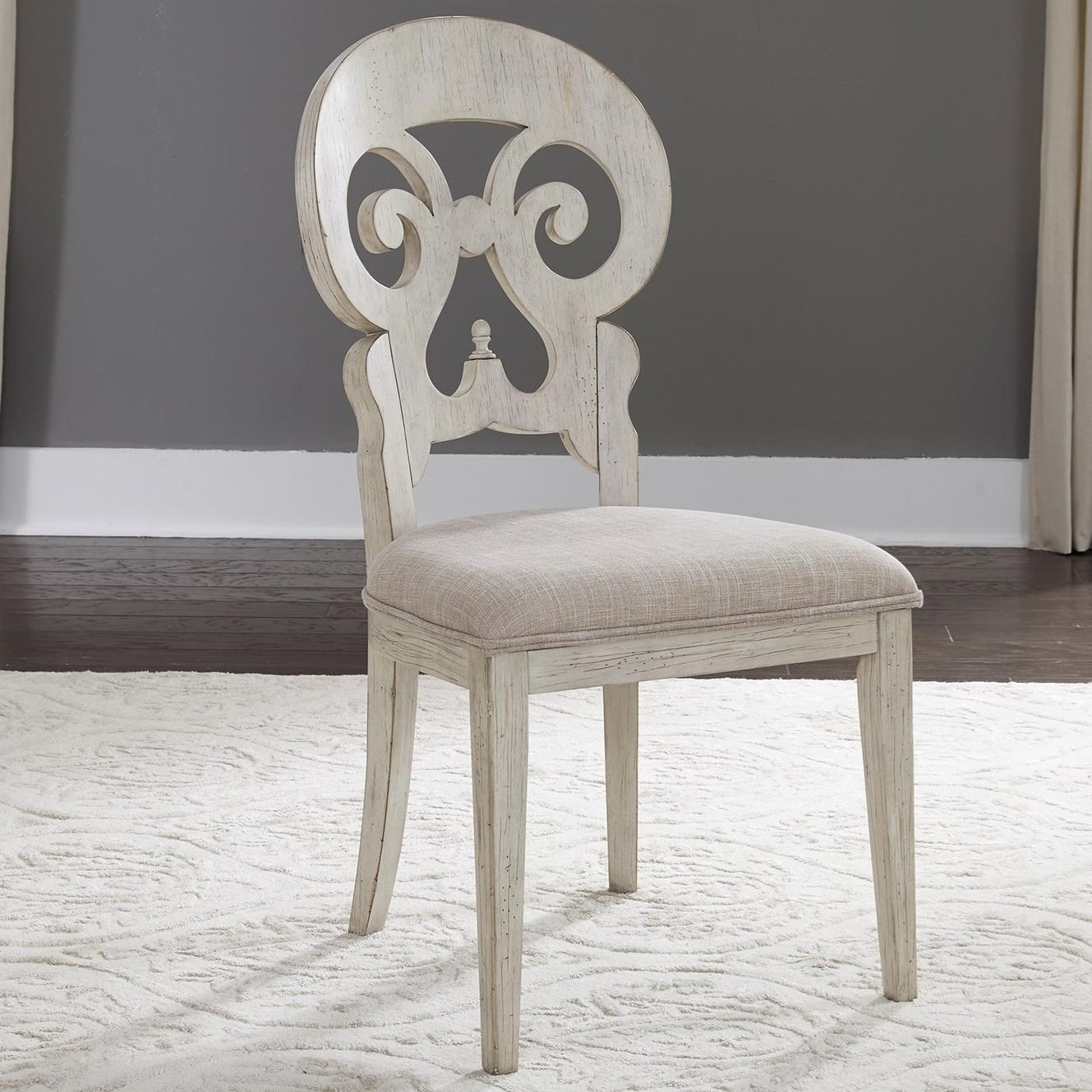 Merveilleux Liberty Furniture Farmhouse Reimagined Relaxed Vintage Upholstered Splat  Back Side Chair