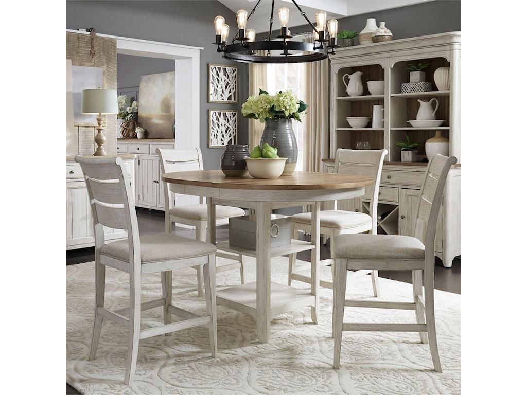 Liberty Furniture Farmington5 Piece Gathering Table Set