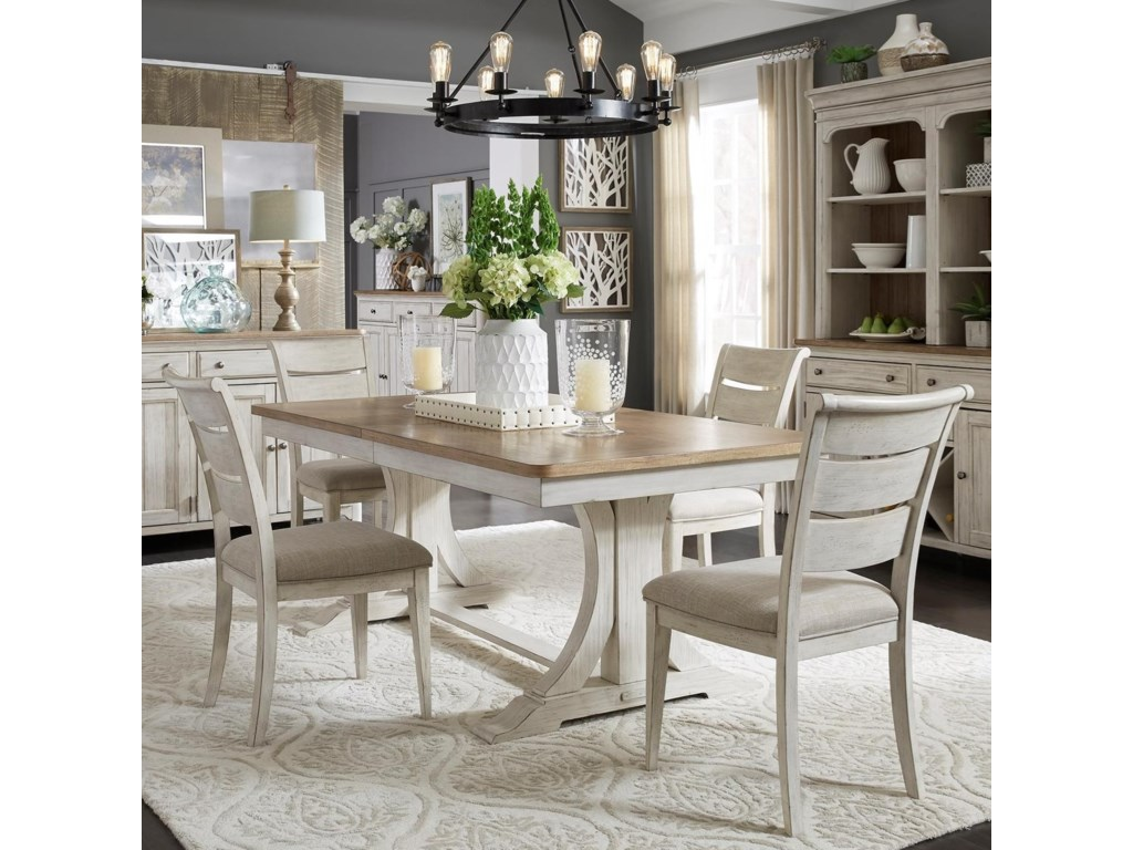 Liberty Furniture Farmhouse Reimagined5-Piece Table and Chair Set