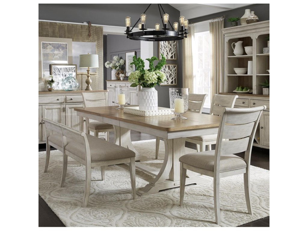 Liberty Furniture Farmhouse ReimaginedDining Room Group