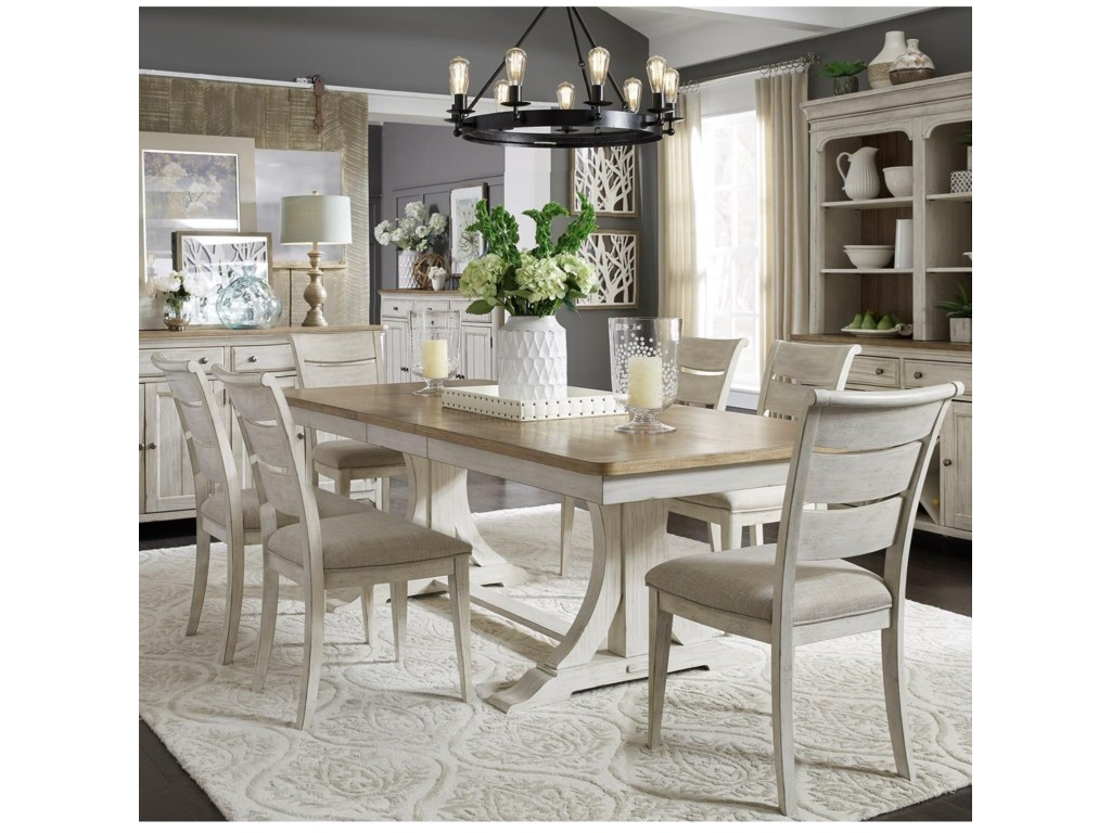 Liberty Furniture Farmhouse Reimagined7-Piece Table and Chair Set