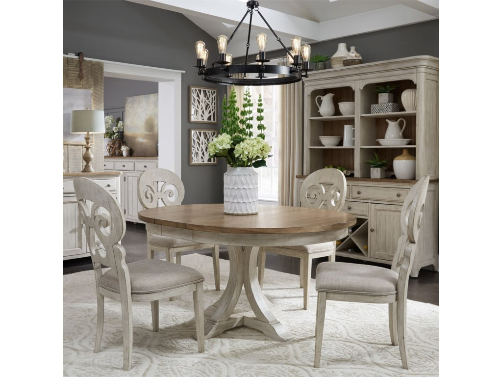 Liberty Furniture Farmhouse ReimaginedPedestal Table
