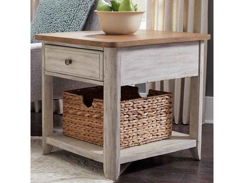 Liberty Furniture Farmhouse ReimaginedEnd Table