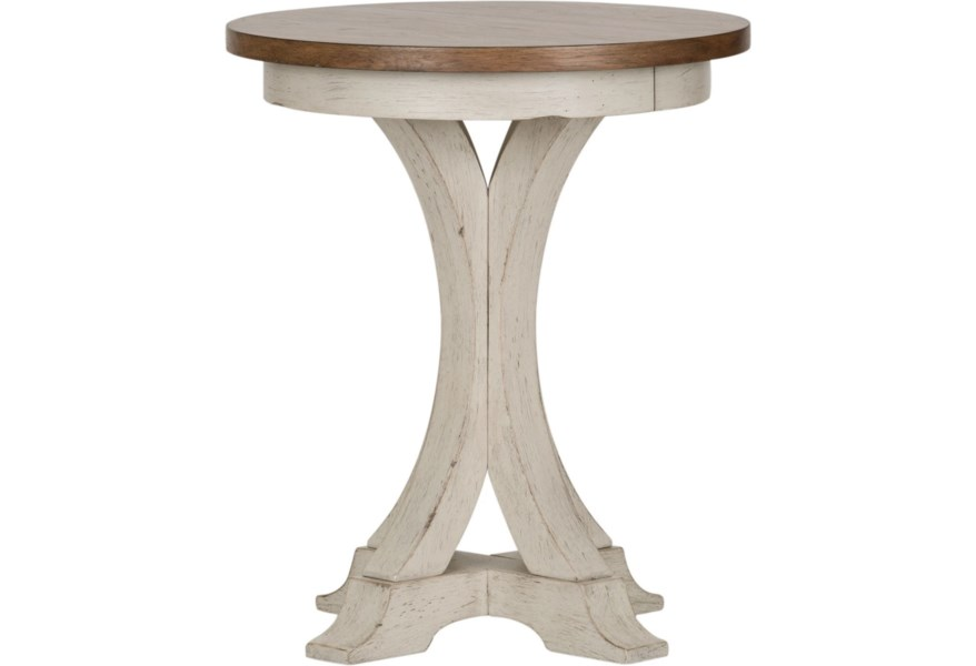 Farmhouse Reimagined Round Chair Side Table by Liberty Furniture at  Suburban Furniture