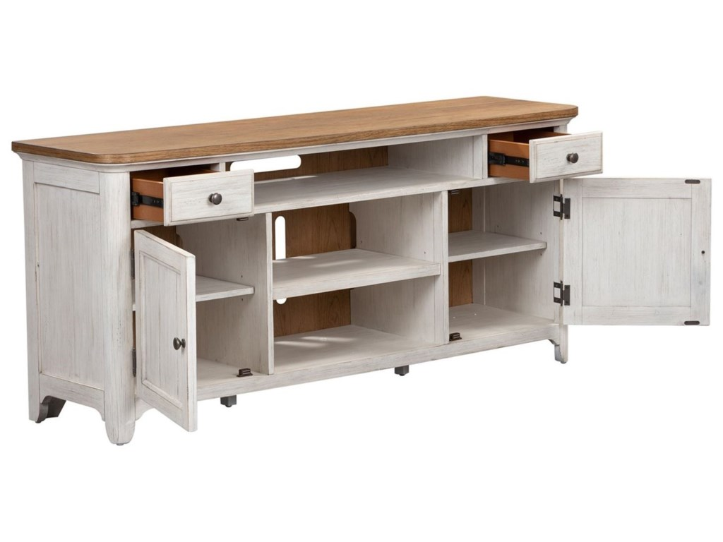 Liberty Furniture Farmhouse ReimaginedEntertainment TV Stand