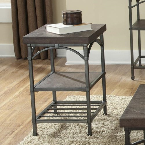 Liberty Furniture Franklin Chair Side Table with Metal Base