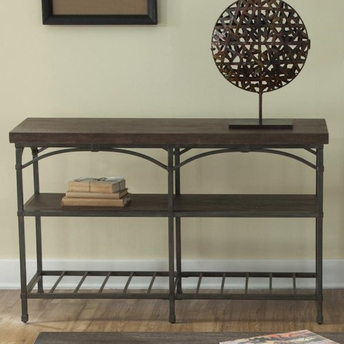 Liberty Furniture Franklin Sofa Table with Metal Base