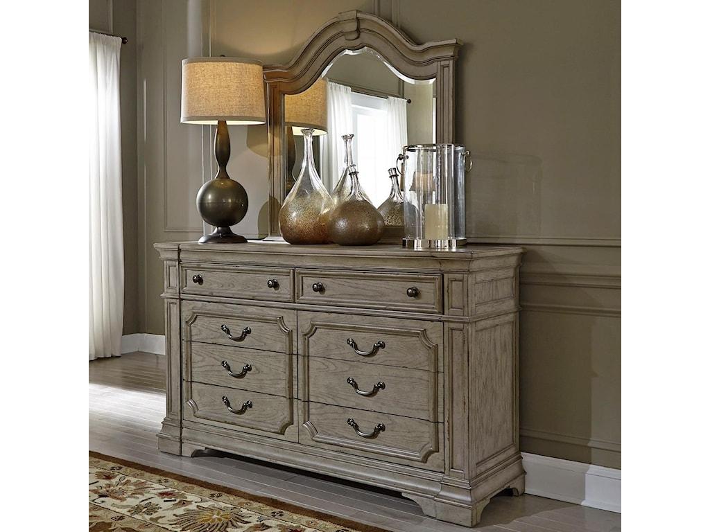 Liberty Furniture Grand EstatesDresser and Mirror