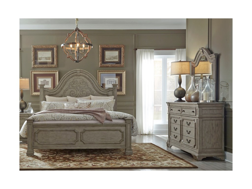 Liberty Furniture Grand EstatesQueen Bedroom Group