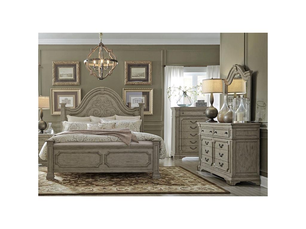 Liberty Furniture Grand EstatesQueen Bedroom Group