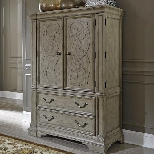Liberty Furniture Grand Estates Traditional 2 Door 2 Drawer Chest with Cedar Lined Bottom Drawer