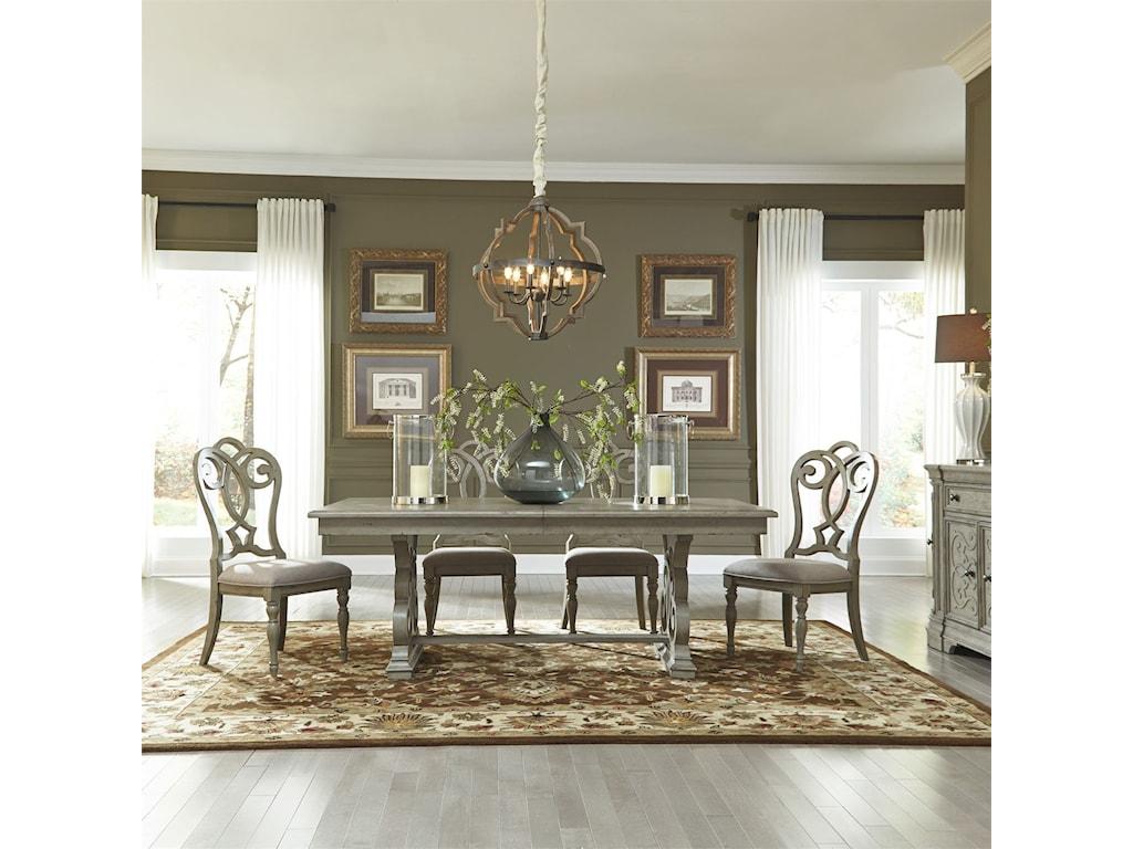 Liberty Furniture Grand Estates5 Piece Trestle Table Set