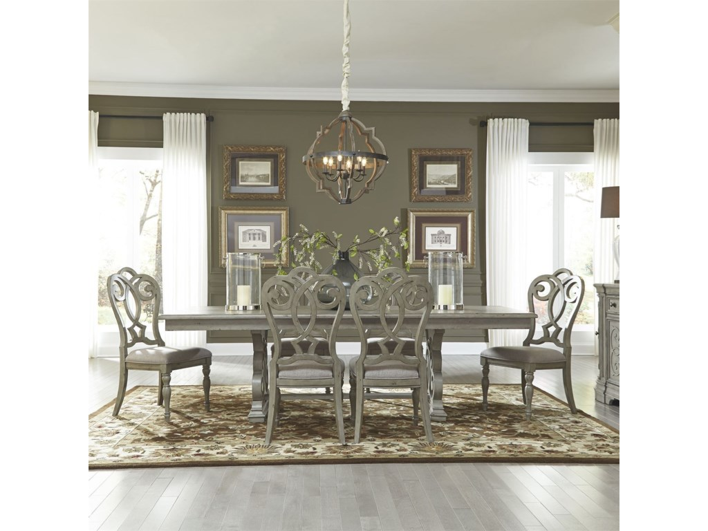Liberty Furniture Grand Estates7 Piece Trestle Table Set
