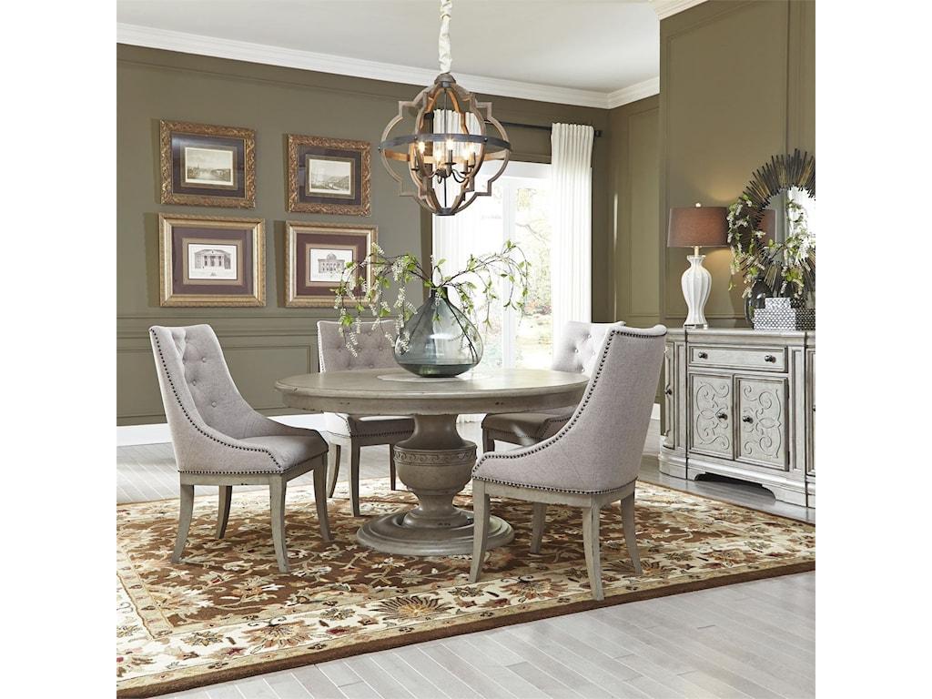 Liberty Furniture Grand Estates5 Piece Pedestal Table Set